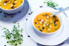 Bild: Photo by istockphoto.com Tofu, C'est Bon, Cheeseburger Chowder, Thai Red Curry, Fruit, Ethnic Recipes, Homemade Soup, Fiesta Kitchen, Cream Soups