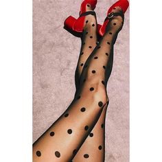 Dotted Line Sheer Black Polka Dot Pattern Stockings Tights Indie XO ($20) ❤ liked on Polyvore featuring intimates, hosiery, tights, dot tights, nylon hosiery, sheer stockings, sheer hosiery and high waisted tights