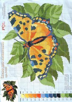 Butterfly Cross Stitch Chart