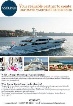 Superyacht Charter, Carpe Diem, Montenegro, Monaco, Greece, Boat, How To Plan, Greece Country, Dinghy