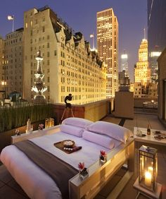 Manhattan GIRL- Rooftop Glamping in New York City- #LadyLuxuryDesigns