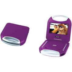 "Sylvania 7"" Portable Dvd Player With Integrated Handle (purple)"