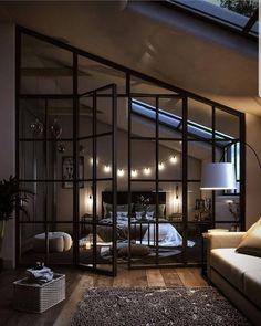 Loft Interior Design, Dream House Interior, Luxury Homes Dream Houses, Dream Home Design, Interior Design Inspiration, House Design, Bedroom Inspiration, Loft Design, Interior Designing