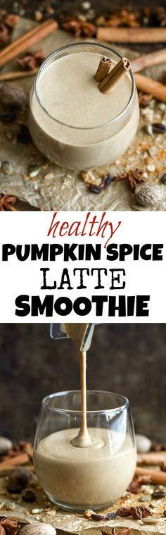 This healthy Pumpkin Spice Latte Breakfast Smoothie can be enjoyed hot or cold and makes a comforting fall-flavoured breakfast or snack {vegan, gluten-free, refined-sugar-free} | runningwithspoons.com