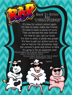 """FREE ***MUSIC RECORDING INCLUDED***- For a limited time only I am sharing my """"Back To School Rap"""" with teachers to enjoy for the Back To School Season 2013. If you enjoy music in your classroom, please enjoy this groovy little rap I have created for all the enjoy and rap together."""