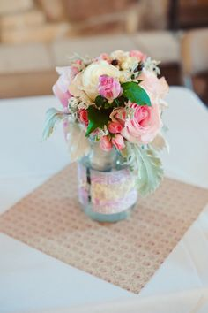 A colorful summer centerpiece. {Melissa Copeland Photography}