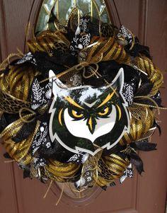 Custom Collegiate Wreath in Your School Colors,KSU Wreath
