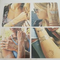 Metal flash tattoos 2 sheets Get creative and have fine with these hot flash tattoos. Everyone is wearing them and planing them in super cool areas on your body. Accessories
