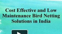 Cost Effective and Low Maintenance Bird Netting Solutions in India Bird Netting, Ppt Presentation, Pigeon, Entrance, Industrial, Free, Entryway, Door Entry, Industrial Music