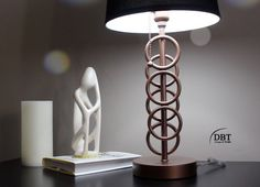 diy up cycled table lamp, lighting, painted furniture