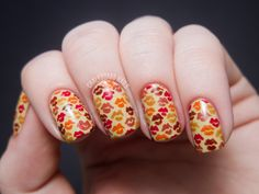 Image result for easy fall nail art