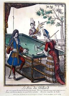 A Game of Billiards, late seventeenth century