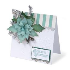Season's Greetings Tattered Poinsettia Card - Tim Holtz and Sizzix