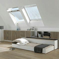 Kastruimte in slaapkamer, handig en netjes weggewerkt