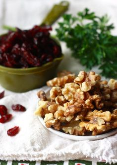 Cranberries and Walnuts - the key ingredients in a Thanksgiving rice dish by SeasonWithSpice.com