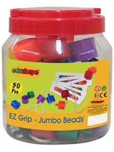 Jumbo Beads Lacing EZ Grip 50/PCS, Mardel