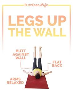 Legs Up The Wall | The 3 Best Yoga Poses For Stress Relief