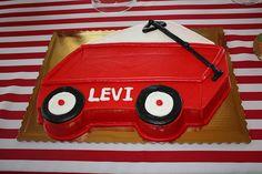 Red Wagon Birthday Cake | local bakery made his wagon cake and his smash cake.