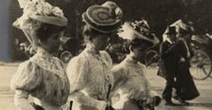 French street style, over 100 years ago.