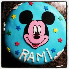 Torta decorada con Mickey