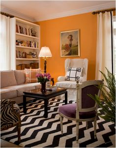 This was my inspiration for my living room.  That carpet is from West Elm.  Interior Designer Jill Sorenson created this look.