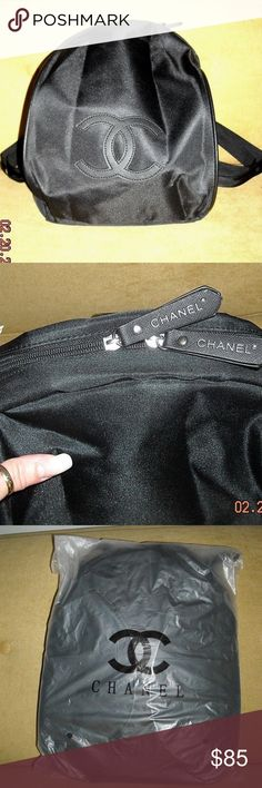 """Authentic Chanel VIP gift bag Authentic Chanel VIP gift Nylon Backpack Brand new with original packaging bag. no hologram sticker or authenticity card for gifts. Approximately 12"""" x 10"""" x 5"""" inches. One zip pocket. Light weight , Great for Daily use. CHANEL Bags"""