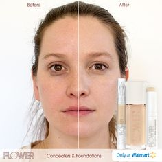 #FLOWERBeauty #PowerTip: How to create the perfect foundation to your look:   1. Brush our Lighten Up! Brightening Concealer around the outer and inner edge of the eye.    2. Blend into a downward facing triangle to create light around the eyes and onto the cheeks.   3. Use our Skincognito Stick Foundation as a brightener for any discoloration or dark spots.  4. Use your fingers to blend in our About Face Foundation all over your face.     Only at Walmart.  #LightenUp #Skincognito #AboutFace