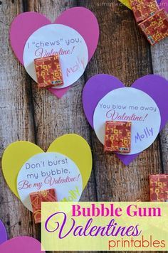 Bubble Gum Valentine Printable – Perfect for Preschoolers!