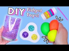 DIY Fidget toy! Viral TikTok fidget toys - YouTube Fun Crafts, Crafts For Kids, Arts And Crafts, Pop It Toy, Diy Fidget Toys, Create This Book, Polymer Clay Kawaii, 5 Minute Crafts, Slime