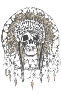 Skull Dream Catcher Shirt by Brittany Hanks, via Behance