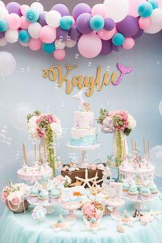 Pastel Mermaid Birthday Party on Kara's Party Ideas | KarasPartyIdeas.com (2)