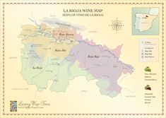 The beautiful wine country of La Rioja is a fascination and historic region, regularly featured on our luxury wine tours. Map Of Italy Cities, Italy Map, Wine Chateau, Rioja Spain, Rioja Wine, Chateauneuf Du Pape, Famous Wines, Spanish Wine, Dry White Wine