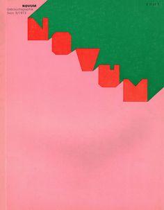 Gebrauchsgraphik/Novum Design magazine, September 1973