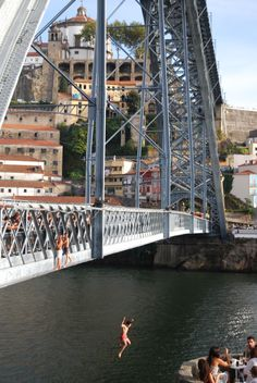 luis bridge porto jumping
