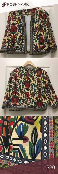 Chic tribal print jacket Fun dress up/dress down jacket. Beautiful colors and details. Never worn, didn't have any tags on it, but is brand new. Lined. ROMWE Jackets & Coats Blazers