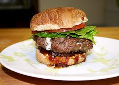 Blue Cheese Burger with Bacon Jam   .. um, did someone say Bacon Jam!?