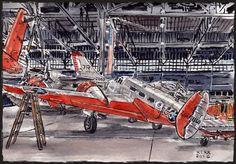 Airship treasures of Hangar B | Urban Sketchers