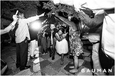 Glowstick grand exit. So fun!   Balboa Park Wedding, Photography by Bauman Photographers  View More: http://baumanphotographers.com/blog/destination-wedding-photography/2015/10/balboa-park-wedding-san-diego-ca-wedding/
