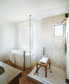 Pebble tiles in the bathroom - Stockett Tile & Granite Company