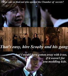 Harry Potter and Scooby Doo- You meddling kids! My fave two shows! Harry Potter Tumblr, Harry Potter Memes Clean, Harry Potter Funny Pictures, Harry Potter Cartoon, Funny Babies, Funny Kids, Scooby Doo Memes, Kids Tumblr, Funny Memes