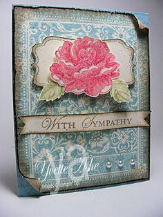 Stippled Blossoms Sympathy  Ex Libris  Yvette Ashe