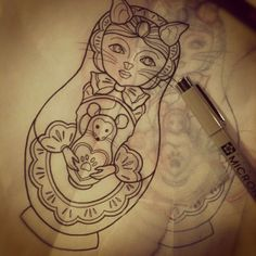 Cat lady Matryoshka