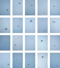 a man stood in the same spot everyday and took pictures of the airplanes passing above him