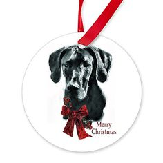 CafePress  Great Dane Christmas  Round Ornament ** You can find more details by visiting the image link.