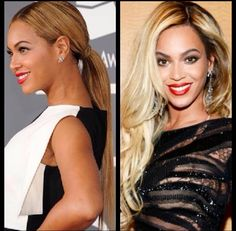 Beyonce hair up or hair down