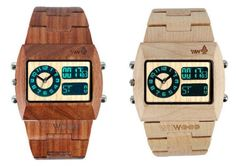 wood watch-now that's what we need more of in this high-tech world...the warmth of wood!! I'd really love a wooden laptop!?!