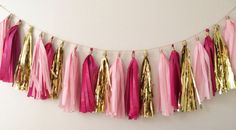 recruitment decor trend ~ tissue tassel garland! ❥ | sorority sugar