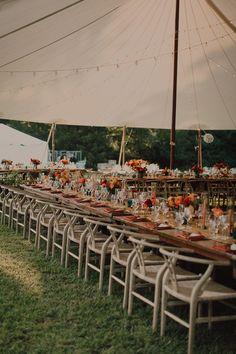 Colorful boho wedding ceremony | Image by Cody & Allison Photography Tent Wedding, Farm Wedding, Boho Wedding, Wedding Ceremony, Wedding Decor, Wedding Colors, Wedding Styles, Smoky Mountain Wedding, Magnolia Wedding