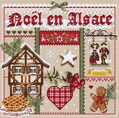 Madame la Fee, Noel en Alsace, схема для вышивания крестом, купить, французская…