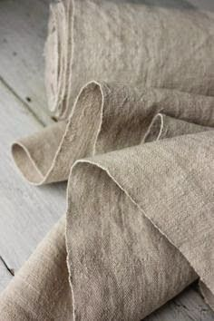 Vintage European WASHED Linen homespun material hand-woven WASHED cloth l.